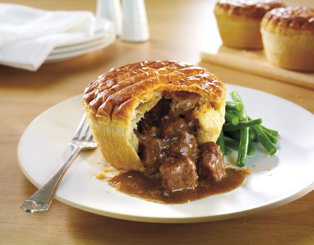 Wrights Unbaked Premium Steak Pie 24x240g - Bradleys
