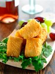 Brie Wedges in Crispy Crumb